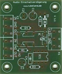 Audio Timer mit NE 555 gegen starke Einschaltgeräusche -Tubeland  Leiterplatte