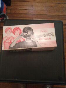 Vintage Sears Easi-Load 1 Camera 126 Original Box, flash and batteries.