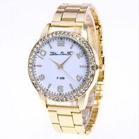 Luxury Women Stainless Steel Quartz Wrist Watch Ladies Crystal Bracelet Watches
