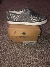 Sperry Top Sider Women  Shoes Sneakers  8 navy Seacoast Geo print K65