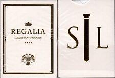 Regalia White Gold Luxury Playing Cards Poker Size Deck Shin Lim