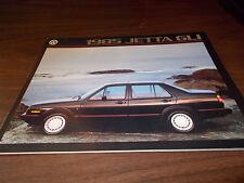1985 Volkswagen Jetta GLI Sales Catalog
