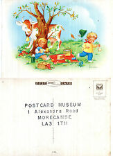 1980's A CHILDRENS PICNIC COLOUR POSTCARD FROM MORECAMBE POSTCARD MUSEUM