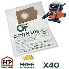 40x Numatic Henry Hetty James Vacuum Cleaner Hoover Bags+Fresheners Microfleece
