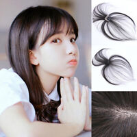 Thin Air Bangs Top Pieces 100% Real Human Hair Clip on Topper Fringe Hairpiece