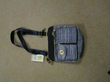 baggallini Blue and white stripped multi pocketed  purse NWT