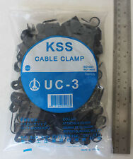 100 P Clip 12.7mm Cable Clamps Black Nylon holds up wire conduit split loom KSS