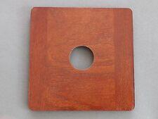 6X6 Round Corner Lensboard Copal #0 Hole for Deardorff 8x10 View Camera Mahogany
