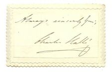 Vintage Victorian autograph SIR CHARLES HALLE Orchestra musician SIGNED 1800s