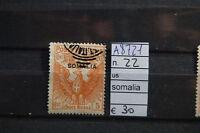 FRANCOBOLLI COLONIE SOMALIA USATI N. 22 (A8721)