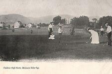 Caldeno Golf Links Men & Women Golfing in Delaware Water Gap PA Pre 1908