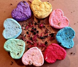 4 HANDMADE WILDFLOWER SEED BOMBS,ECO FRIENDLY,WEDDING,PARTY FAVOUR,MOTHERS DAY