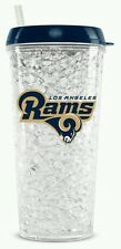 NFL Los Angeles Rams Crystal Freezer Travel Tumbler Mug - (16oz) w/Straw