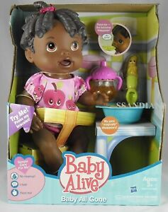 Hasbro Baby Alive All Gone African American Doll Talking Molded Hair Age 3+