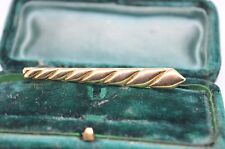 Vintage Gold tie clip in the art deco style #T286
