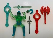 vintage Remco CRYSTAR  WEAPONS PARTS LOT Crystal Dragon Warrior and More