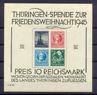 SBZ Block 2 x Thüringer Weihnachtsblock postfrisch (rs128)