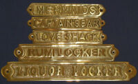 Solid Polished Brass Wall Door Plaque Signs Nautical Maritime Decor