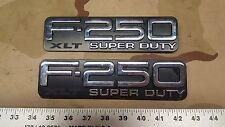 (2) 1999-2004 Ford F-250 XLT Emblem Badge OEM Super Duty