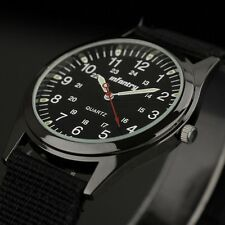 Infantry Mens Quartz Analog Lume Wrist Watch Casual Army Sport Black Nylon Strap