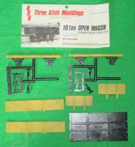 Three Aitch Mouldings 7mm O gauge 5 plank 10 ton open wagon plastic kit unbuilt