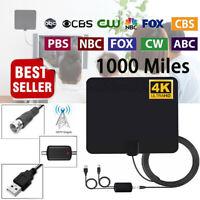 Newest Indoor Amplified Digital TV Antenna HDTV 4K 1080P Long Range 1000 Miles