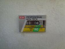 Vintage Audio Cassette ICM Ferro SD I 90 * Rare From Switzerland 1980's *