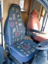 TO FIT A TALBOT EXPRESS MOTORHOME, SEAT COVERS MH150 MARGARET, CHINESE FLOWER