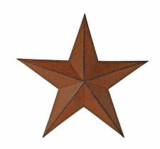 Metal Antique Barn Star Rustic Country Primitive Wall Décor Distressed Brown 11""