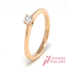 Brillant-Solitärring 0,15 ct TW/SI in 18K Rotgold - 2,66 g - Gr. 53