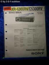 Sony Service Manual XR 4300RV /C5300RV Car Stereo (#4486)