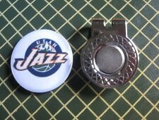 GOLF / Utah Jazz Logo Golf Ball Marker/with Magnet Hat Clip New!!