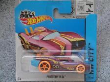 Hot wheels 2014 #059/250 PROTOTYPE H-24 violet avec orange roues HW CITY