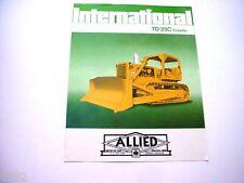 International TD-25C Crawler Dozer Sales Brochure *