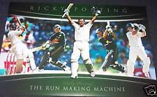 RICKY PONTING AUSTRALIA  'RUN MACHINE'  LICENSED ONE DAY AND TEST PRINT ASHES