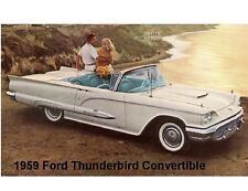 1959 Ford Thunderbird Convertible Auto Refrigerator / Tool Box  Magnet