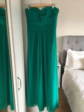 Floor length Maxi Stunning Emerald Green Coast Size 12 Dress.