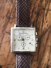 Tommy Bahama Chronograph Watch, Sterling Silver With Woven Leather Band