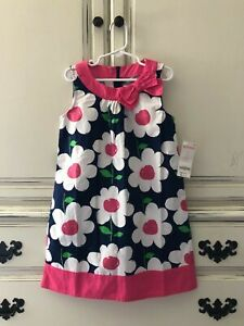 Gymboree Dress Size 7 Navy White Pink Floral Dress NWT