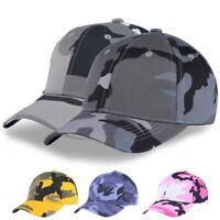 Femme Hommes Camouflage Réglable Pêche Casquette de baseball Sports Chapeau 25