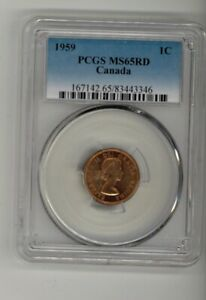 1959 – CANADA – 0.01¢ (SMALL Cent) – PCGS MS65 RD