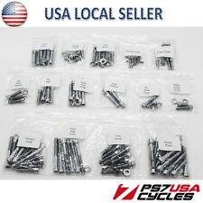 1999-2017 HARLEY DAVIDSON SHOW POLISHED LIKE CHROME STAINLESS STEEL BOLT KIT SET