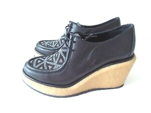 Paloma Barcelo Wedge heel chunky Shoe Size UK 4 EU 37