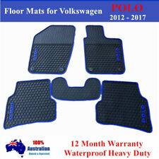 Waterproof Rubber Car Floor Mats Tailor Made for Volkswagen Polo 2010- 2017 Blue