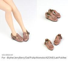 Tassel T shoes_PINK for Blythe / DAL / Pullip / Momoko/ Lati_y/Pukifee
