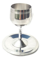 Steinls Steele silver Shabbat Kiddush Goblet + saucer.Judaica israel Jewish