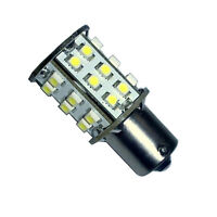 HQRP BA15s 30 LEDs Natural White Bulb for 1073 1093 1129 Forest River Toy Hauler