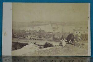 1860s Scenic CDV Carte De Visite Rochester Kent Medway River Navy Ship