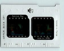 1996-97 UPPER DECK SP GAME FILM PATRICK ROY INSERT Card # GF3 Rare Avalanche BV