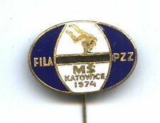 pin WRESTLING WORLD CHAMPIONSHIP Katowice 1974 FILA badge Lutte Ringen